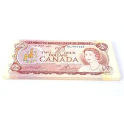 Lot (30) Bank of Canada 1974 2.00 Notes