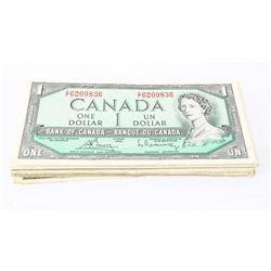 Group (50) Bank of Canada 1.00 Mixed Circulated