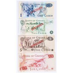 Bank of GHANA 4x 'Specimen' Match Serial 5235