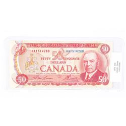 Bank of Canada 1975 50.00 L/B RCMP Formation