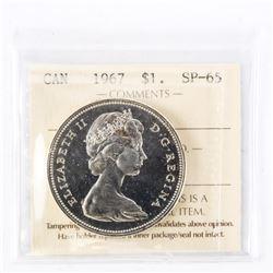 """1967 - $1. """"PL-66[ICCS Certified : XXA-515]"""""""