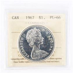"""1967 - $1. """"SP-65[ICCS Certified]"""""""