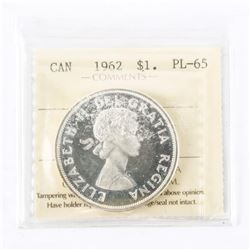 "1962 - $1. ""PL-65 Cameo[ICCS Certified : XOD-408]"""