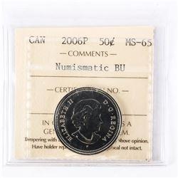 """2006 - P - 50 Cents. """"PL-65(Numismatic BU - MS65)[ICCS Certified : IG-511]"""""""