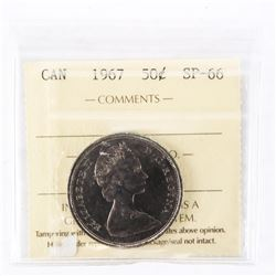 """1967 - 50 Cents. """"SP-66[ICCS Certified : XDH-391]"""""""