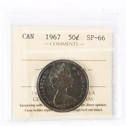 "1967 - 50 Cents. ""SP-66[ICCS Certified : XMV-229]"""