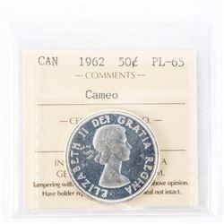 "1962 - 50 Cents. ""PL-65 Cameo[ICCS Certified : XML-356]"""