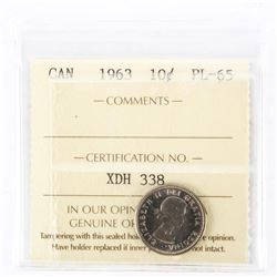 "1963 - 10 cent. ""PL-65[ICCS Certified : XDH-338]"""