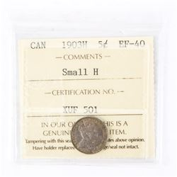 "1903 - H - 5 cents [Small H]. ""EF-40[ICCS Certified : XUF-501]"""