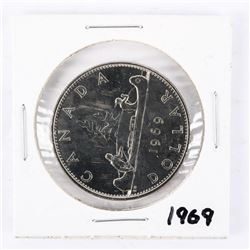 1969 CAD Nickel Dollar UNC