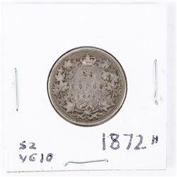 1872H Canada Silver 25 cents Victoria VG-10
