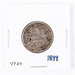 1899 Canada Silver 25 cents Victoria VF-20