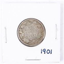 1901 Canada Silver 25 cents Victoria