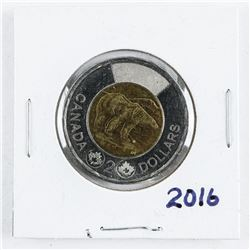 2016 CAN 2.00 Coin BU MS65.