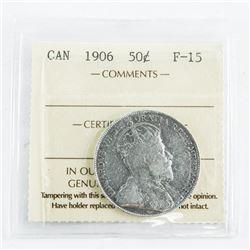 1906 Canada 50 cent F15. ICCS.
