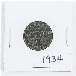 1934 Canada Five cents