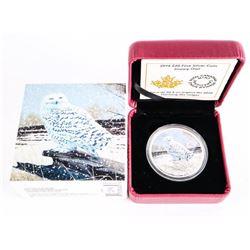 2015 $20.00 .9999 Fine Silver Coin 'Snowy Owl' (SXR)