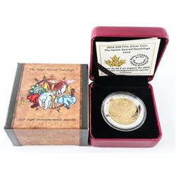 2014 $20.00 .999 Fine Silver Coin 'The Seven Sacred Teachings - Love' (SSR)