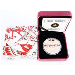 2013 $20.00 .999 Fine Silver Coin - Canadian Contemporary Art (AR)