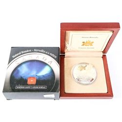 .9999 Fine Silver $20.00 Coin 'Northern Lights'