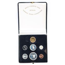 1867-1967 Specimen Silver Coin Set with Loon Dollar