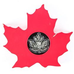 RCM .9999 Fine Silver $20.00 Coin 'The Canadian Maple Leaf' with Display (SAR)