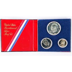 1766-1976 Silver USA 3 Coin Proof Set