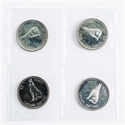 Lot (4) Silver Specimen Canada 50 Cent 1867-1967