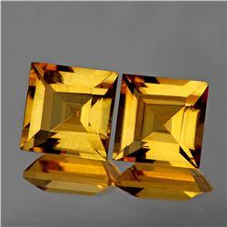 Natural Princess Golden Yellow Citrine Pair 8.00 MM- FL