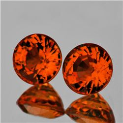 Natural AAA Fire AAA Orange Tourmaline Pair - Flawless