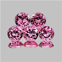 NATURAL TOP PINK TOURMALINE 5 Pcs - Flawless