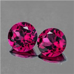 Natural AAA Fire Raspberry Pink Rhodolite Garnet Pair