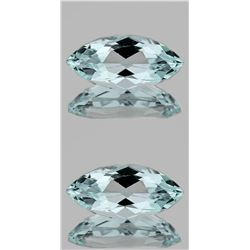 MARQUISE NATURAL LIGHT SKY BLUE AQUAMARINE PAIR