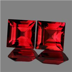 Natural Pink Red Rhodolite Garnet Pair