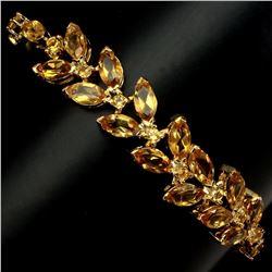 Natural 8x4mm Yellow Citrine 71.41 Ct Bracelet