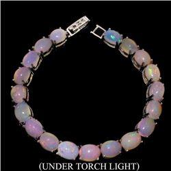 Natural Unheated Oval Ethopian Opal Bracelet