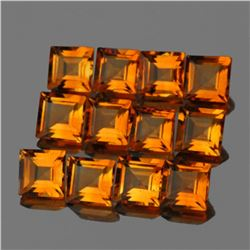 Natural Intense AAA Golden Yellow Citrine 12 Pcs - FL