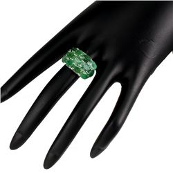 Natural Untreated Green Emerald Ring