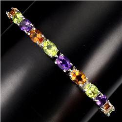 Natural  Amethyst Citrine Peridot 50.36 Ct Bracelet