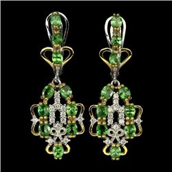 Natural Tsavorite Garnet Fashion Earrings