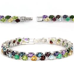 Natural Multi Gemstone Bracelet