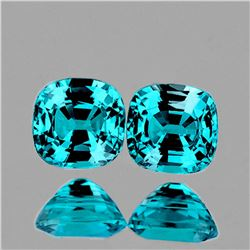 Natural Cambodian Intense Blue Zircon Pair 6.00 MM - FL