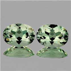 Natural Green Amethyst Pair 14x10 MM  [Flawless-VVS]