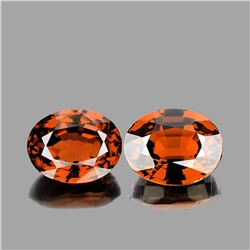 Natural AAA Cinnamon Orange Hessonite Garnet Pair
