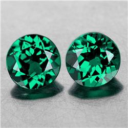 NATURAL EMERALD BLUISH/GREEN TOPAZ PAIR