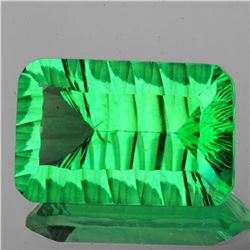Natural ConCave Cut Emerald Green Fluorite - FL
