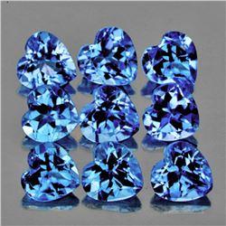 Natural Santa Maria Blue Aquamarine Hearts 4 mm - VVS