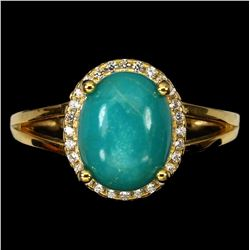 Natural Turquoise Unheated 10x8 MM Ring