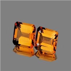 NATURAL AAA GOLDEN ORANGE CITRINE PAIR [IF-VVS]