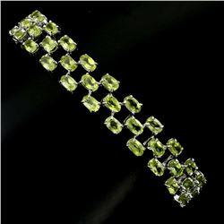 Natural Green Peridot 96 Carats Bracelet - Untreated